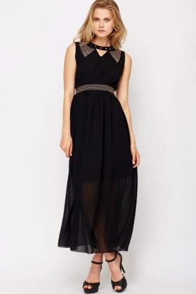 Studded Front Maxi Dress