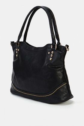 Faux Leather Studded Bag