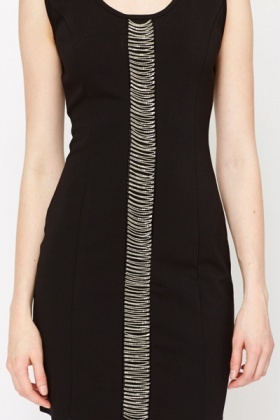 Chain Panel Bodycon Dress