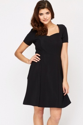 Sweetheart Neck Black Dress