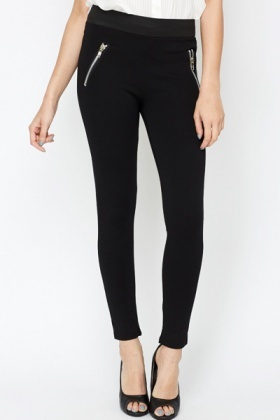 Contrast Waist Leggings