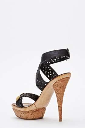 Cut Out Strappy Heeled Sandals