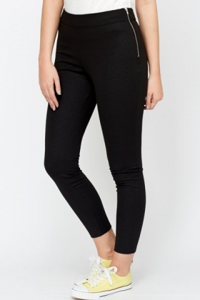 Mock Croc Printed Leggings