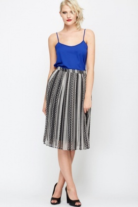Pleated Midi Skirt - Just £5