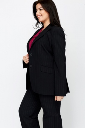 Pin Stripe Black Blazer