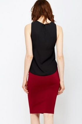 Cut Out Side Black Shell Top