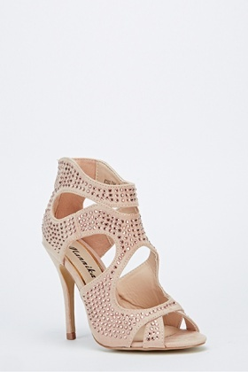Encrusted Cut Out Heels
