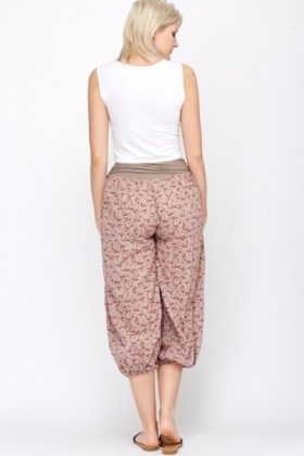 Poppy Floral Harem Pants