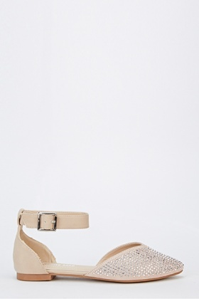 Diamante Court Buckle Sandals