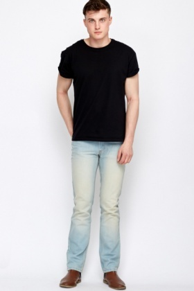 Bleached Straight Leg Jeans