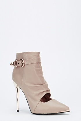 Ankle Pointed Toe Heeled Boots