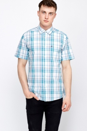 Check Contrast Short Sleeve Shirt
