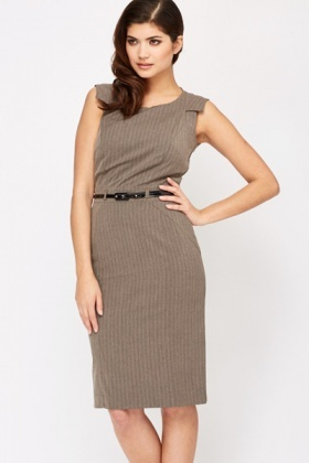 Belted Office Dress