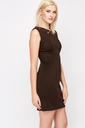 Jewel Encrusted Bodycon Dress
