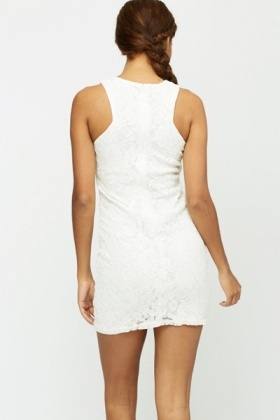 Lace Overlay Bodycon Party Dress