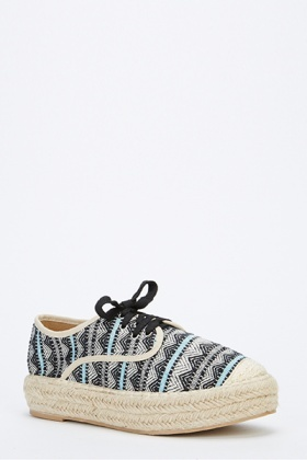 Woven Trim Aztec Trainers