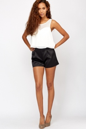 Satin Bonded Shorts