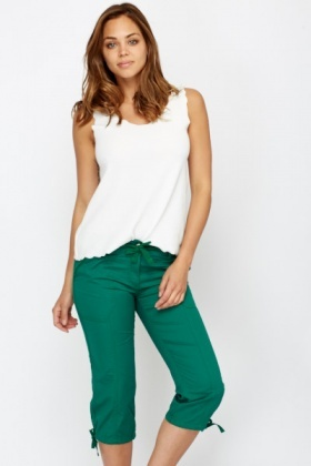 Cotton 3/4 Length Casual Trousers