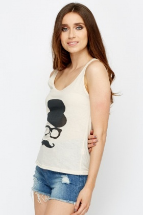 Graphic Printed Vest Top