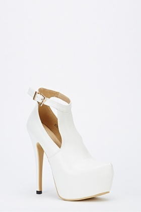 Cut Out Ankle Strap Platform Heels