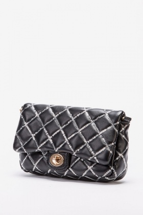 Sequin Quilted Evening Bag