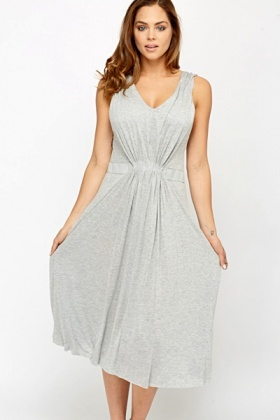 Ruched Front Swing Dress