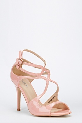 PVC Cut Out Heeled Sandals