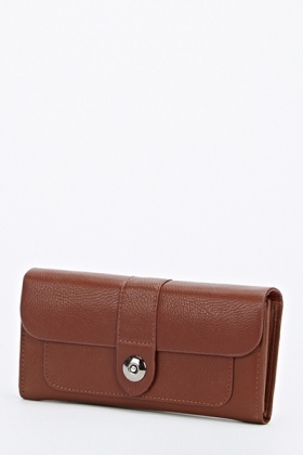 Faux Leather Coffee Purse