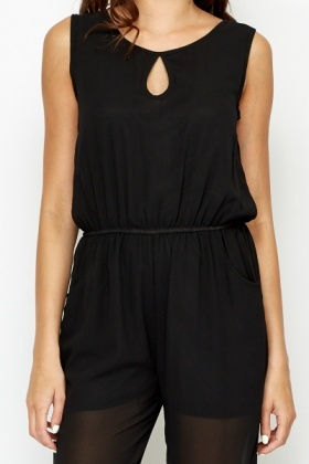 Key Hole Front Jumpsuit