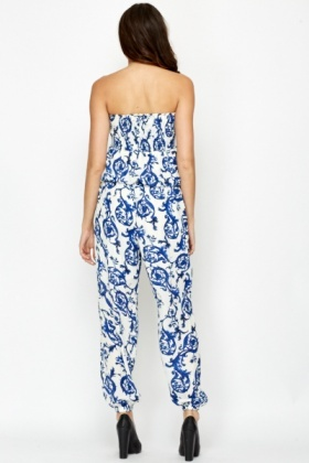 Ornate Bandeau Jumpsuit