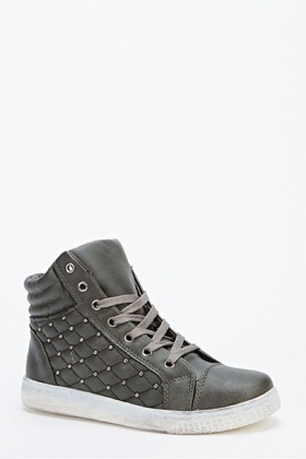 Quilted Ankle Trainers