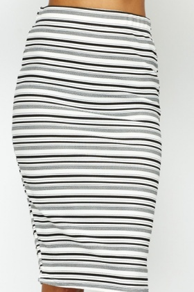 High Waist Striped Tube Skirt - Just £5