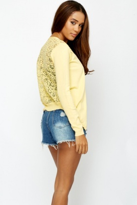 Crochet Mesh Back Cardigan