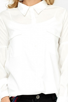 White Puff Sleeve Blouse