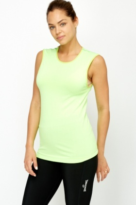Neon Gym Sleeveless Top