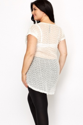 Bubble Mesh Top
