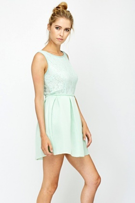 Lace Bonded Skater Dress