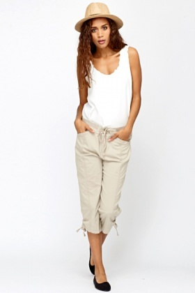 Loose 3/4 Leg Trousers