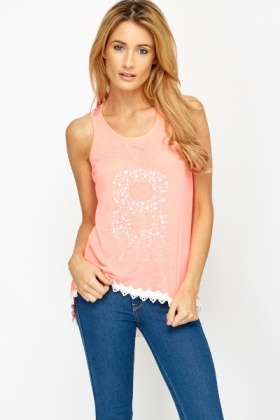 Netted Back Sequin Top