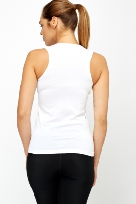 White Pattern Sports Top