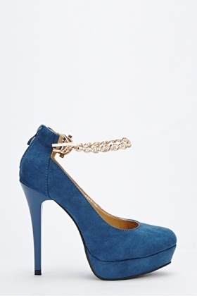 Chain Strap Tapered Heels