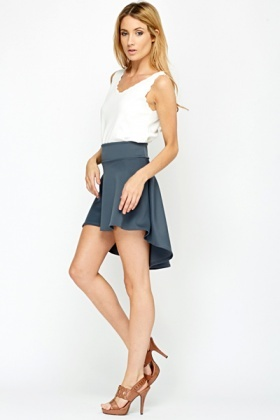 Middle Grey Drop Back Skirt