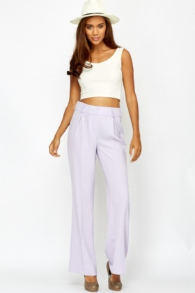 Pastel Wide Leg Trousers