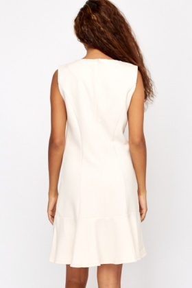 Frill Hem Textured Dress