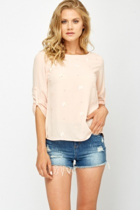 Bow Front Casual Blouse