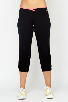 Elastic Hem Tight Fit Sports Trousers