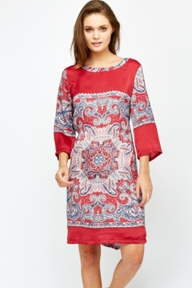 Fuchsia Ornate Tunic Dress