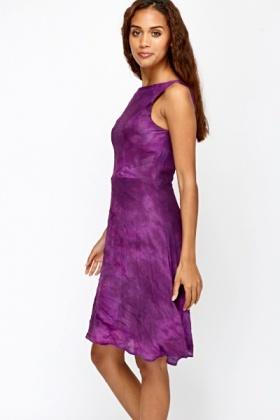 Swing Tie Dye Purple Dress