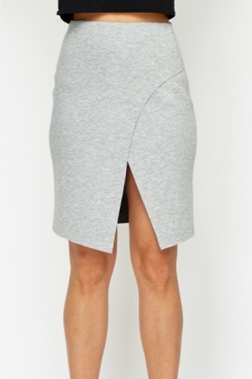 Layered Grey Jersey Skirt