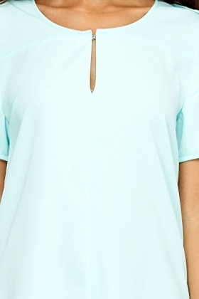 Mint Dip Hem Shift Dress